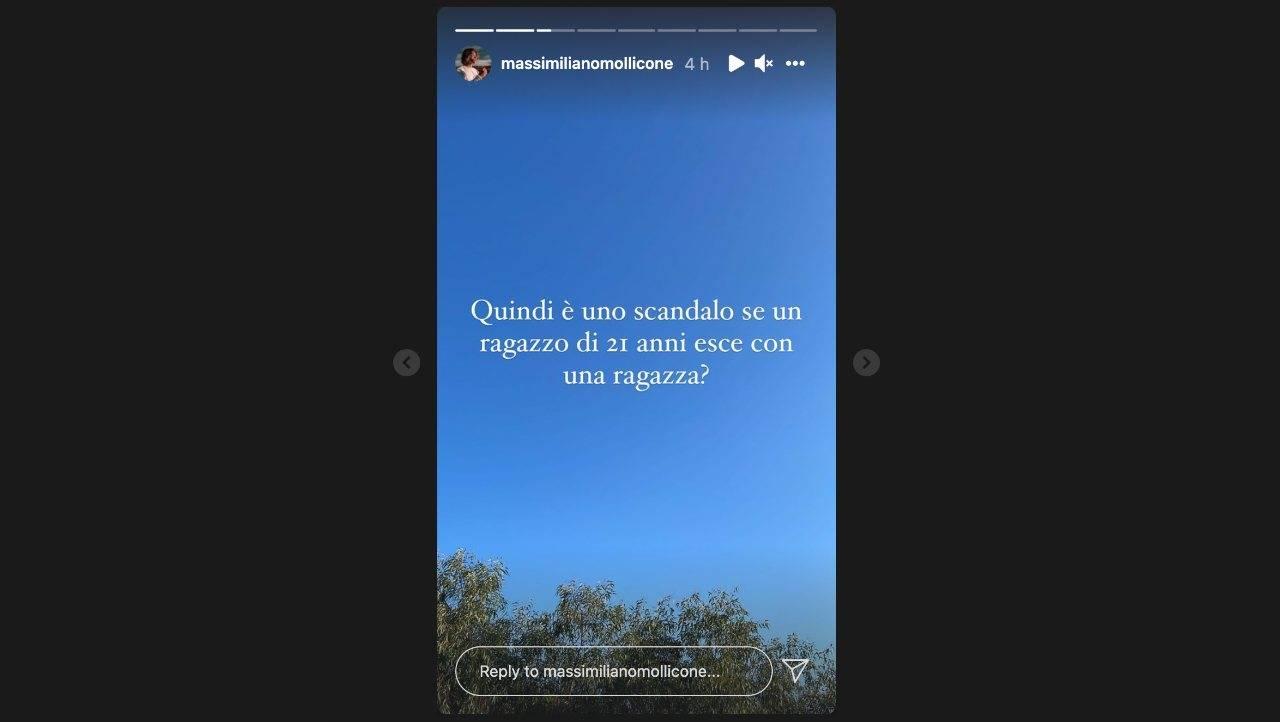 Uomini e Donne, la provocazione di Massimiliano Mollicone nelle sue Storie Instagram.