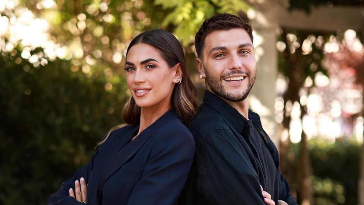 Manuele Mameli, esperto di bellezza per Chiara Ferragni, e Melissa Satta (foto Instagram).