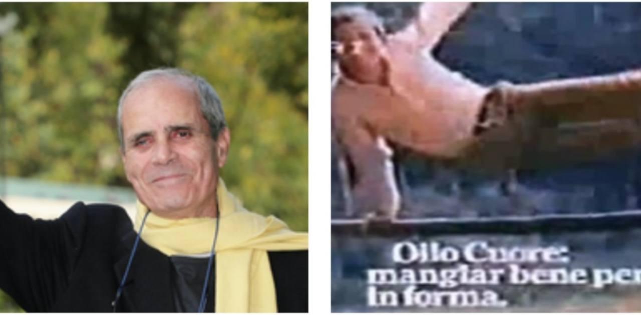 L'attore Nino Castelnuovo e la pubblicità all'Olio Cuore, che lo ha reso molto popolare (foto Ansa e Rai).