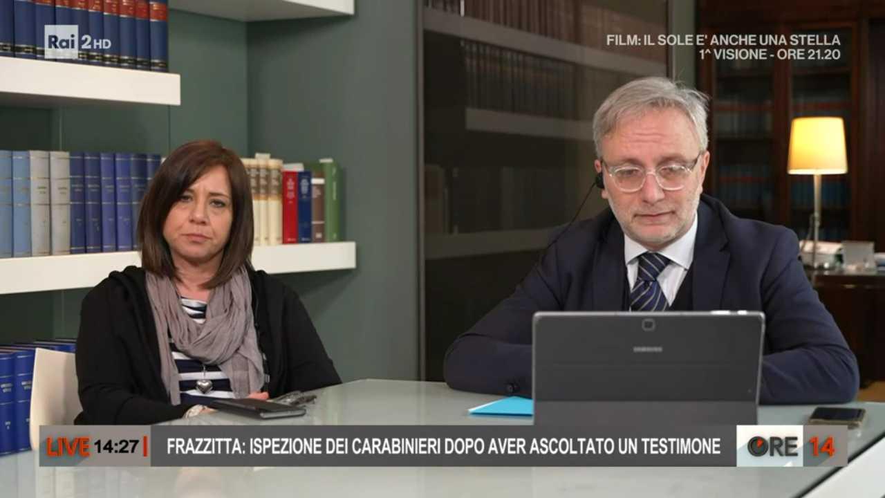 L'avvocato Giacomo Frazzitta e Piera Maggio ospiti di Ore 14 (foto Rai).