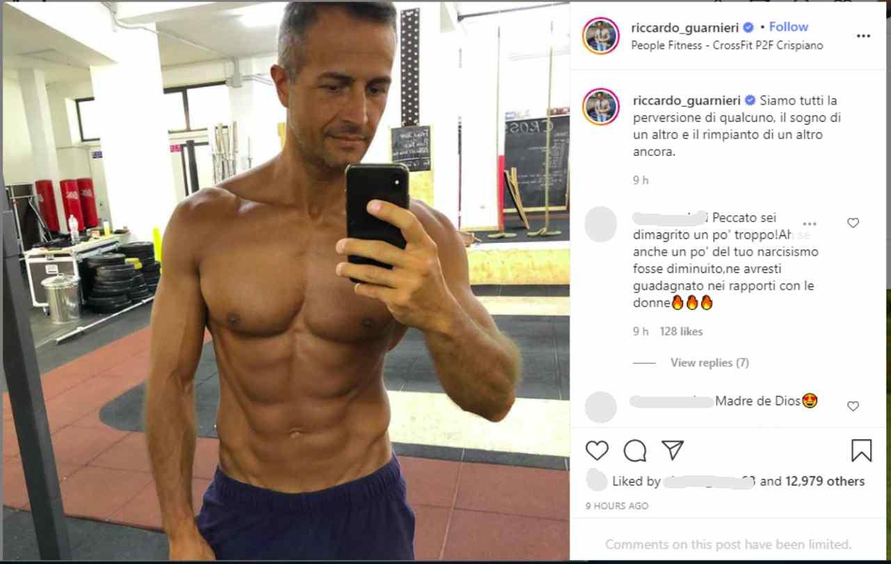 Uomini e Donne, il protagonista del Trono Over, Riccardo Guarnieri (foto Instagram).