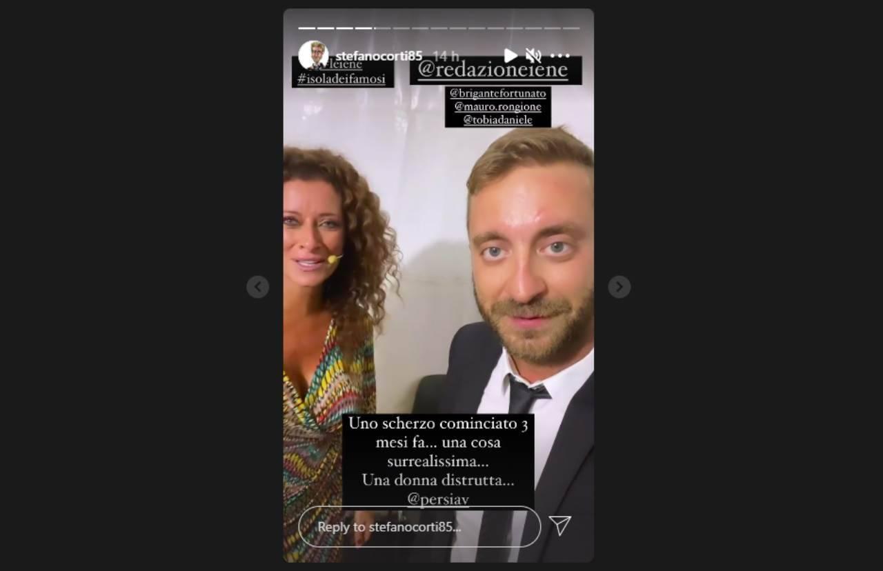 Le Iene e lo scherzo a Valentina Persia (Storia Instagram).
