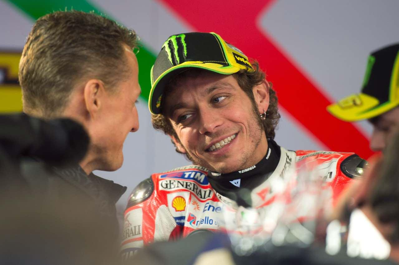 Michael Schumacher e Valentino Rossi