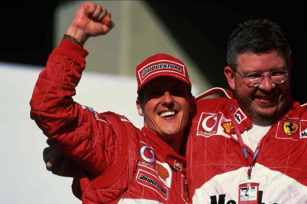 Schumacher e Ross Brawn