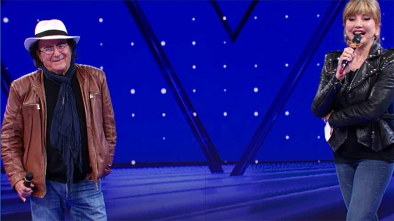 Milly Carlucci ed Al Bano insieme sulllo stesso palco (foto Rai).