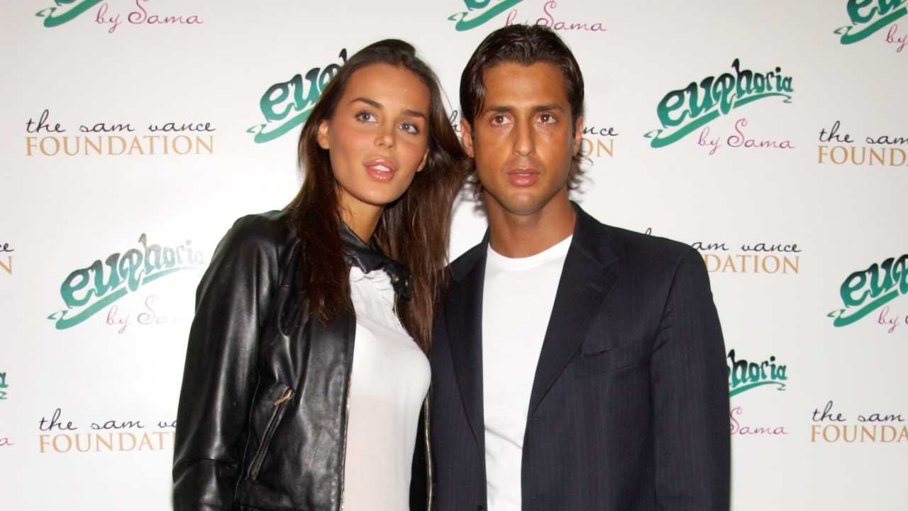 Nina Moric e Fabrizio Corona ai tempi del loro matrimonio nel 2022. Hanno avuto un figlio, Carlos Maria Corona (foto di Lawrence Lucier/Getty Images).