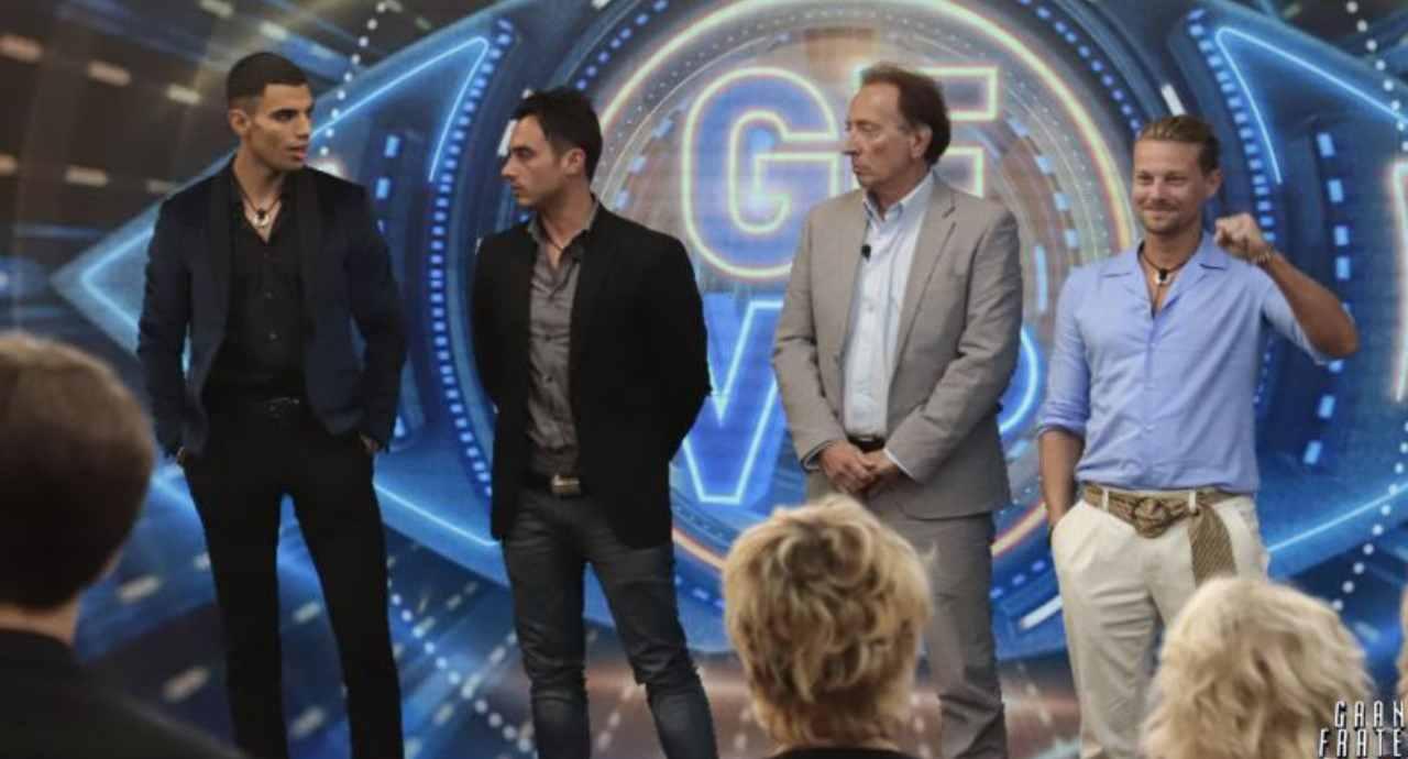 GF Vip 6: Amedeo, Samy e Nicola sono finiti in nomination (foto Mediaset).