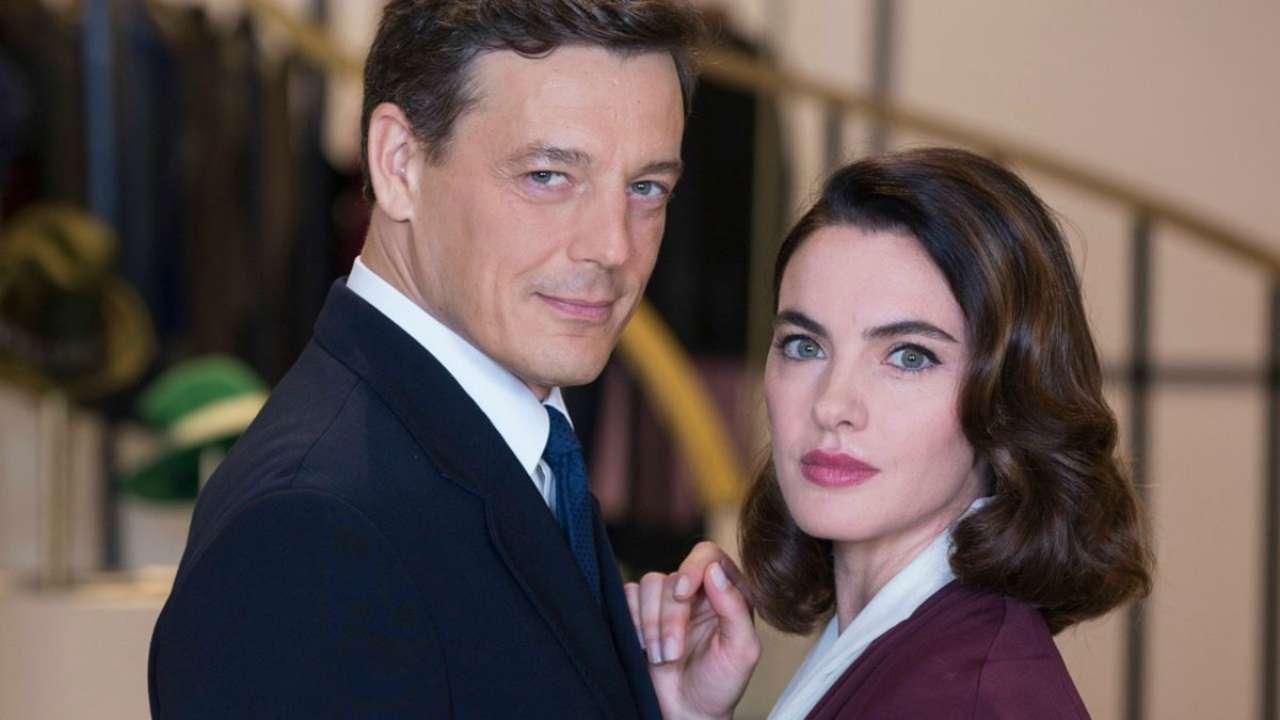 Il Paradiso delle Signore, Giorgio Lupano ed Enrica Pintore interpretano Luciano Cattaneo e Clelia Calligaris (foto Rai).