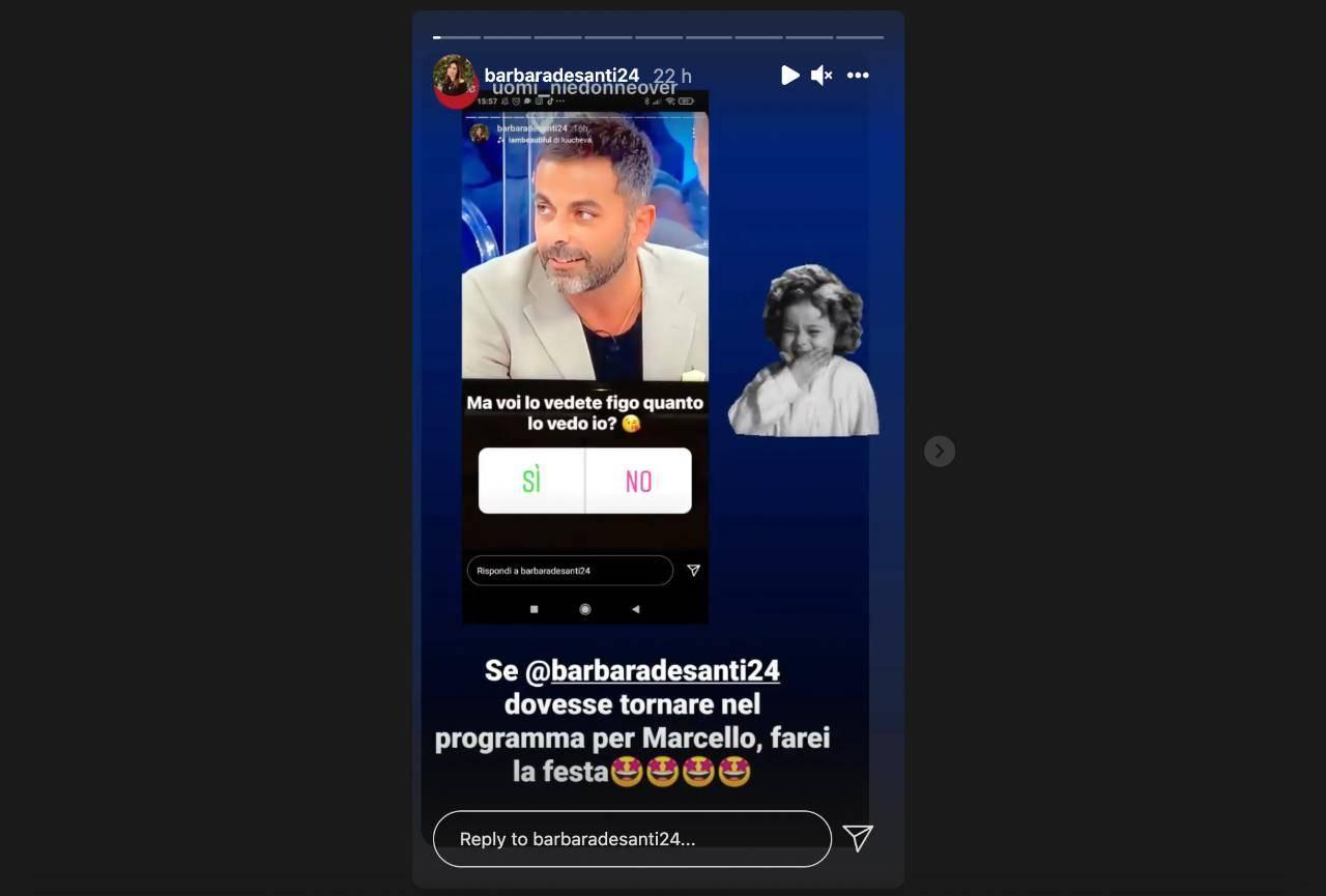 Uomini e Donne, il commento di Barbara De Santi all'ipotesi del suo ritorno in trasmissione (fonte: Instagram).